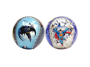 Superman Break In Action & Batman In Action DC Comics Set of 2 Baseballs 9SIA10559X7282