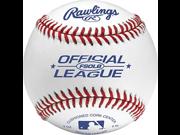 Rawlings Flat Seam Official League Tournament Grade Baseball White