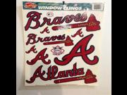 Atlanta Braves Window Clings 12 X 17