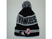 NEW ERA MLB New York Yankees Grey Striped Jake Cuffed Knit Beanie 9SIAD245D36824