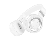 Sound Intone P6 Stereo Wireless Bluetooth Foldable Headphones with Microphone White Silver