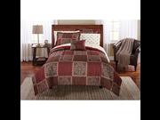 Mainstays Bed in a Bag Bedding Comforter Set Tiles Design TWIN Set Brown Burgundy Color