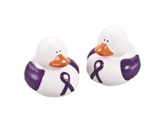 Fun Express Purple Ribbon Rubber Ducks Party Favors 12 Pieces