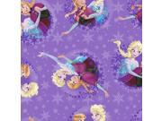 "Frozen Sisters Skate Badge 59/60"""" Wide 100% Polyester D/R-Sisters Ice Skating Snowflake Badge"" 9SIA1055AP7942"