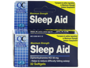 Quality Choice Maximum Strength Sleep Aid Softgels 32 Count Boxes Pack of 6