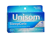 Unisom SleepGels Nighttime Sleep Aid Softgels 16 ea Pack of 12