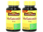 Nature Made QhQkq Melatonin Tablets Value Size 3 Mg 2Pack 240 Count PIaPC