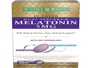 Natures Bounty Dual Spectrum Bi Layer Melatonin Tablets 5mg 60 Count Pack of 6