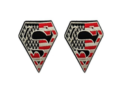 DC Comics The Justice League Superman Logo 2 Pack Patch Gift Set 9SIA1055AY1453