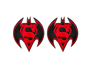 DC Comics The Justice League Batman Vs Superman Logo 2 Pack Patch Gift Set 9SIA1055AY1479