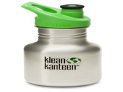 Klean Kanteen 12 oz Stainless Steel Water Bottle (Sports Cap 3.0 in Bright Green) - Brushed Stainless 9SIA1055B22403