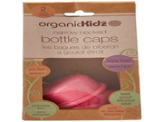 organicKidz Narrow Necked Bottle Cap Pink 2 Count