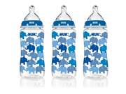 NUK 14074 Elephants Baby Bottle with Perfect Fit Nipple 10 Ounces 3 Pack