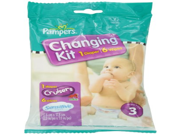 Pampers Cruisers Changing Kit, Size 3, Unscented, (Pack of 10)