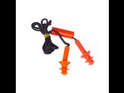 Black Decker BD720 Reusable Triple Flange Corded Earplugs with Case NRR 25 Black Orange
