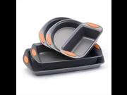 Rachael Ray Yum-O 5-Piece Nonstick Bakeware Set Cookware Sets - Orange by Rachael Ray 9SIA1055DD7776