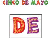 Fiesta Glittered Cinco De Mayo Streamer 8.5 x 10 Case Pack 12