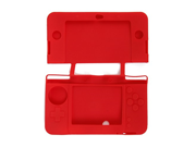Generic Soft Protective Case Skin Cover for New 3DS Red