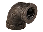 LDR 310 E90-38 90 Degree Elbow, Black, 3/8-Inch