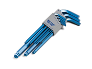 Blue Hex Key Set Alloy Steel, Metric, L-Shaped, Number of Pieces: 9 9SIA1056NV2037