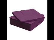 FANTASTISK 50 Pack Highly Absorbent Purple Paper Napkin