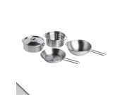 IKEA - DUKTIG 4-piece Children Role Play Cookware Set, Stainless Steel Color