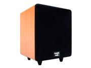 "Acoustic Audio CS-PS8-C Home Theater 8"" Powered Subwoofer 300 Watt Cherry Sub"