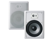 "Acoustic Audio CS-IW820 In Wall 8"" Speaker Pair 2 Way Home Theater 600 Watt CS-IW820-PR"