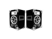 Acoustic Audio GX-400 PA Karaoke DJ Speakers 1200 Watts 2 Way Pair Home Audio