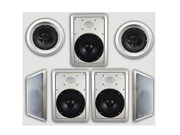"""Acoustic Audio HT-67 In Wall In Ceiling 1750 Watt 6.5"""" Home Theater 7 Speaker System"""