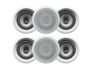 "Acoustic Audio CS-IC82 In Ceiling 8"" Speaker 3 Pair Pack 1800W CS-IC82-3PR"