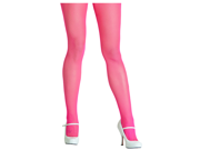 Neon Pink Fishnet Tights