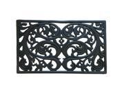 """Genoa Decorative Cast Iron Door Mat - 18"""" x 30"""" Outdoor Rubber Doormat"""
