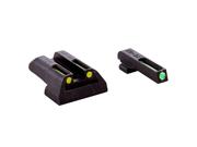 Truglo TFO Tritium Fiber Optic Britesite Green/Yellow Gun Sights Glock Low