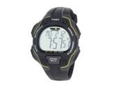 Men's 50-Lap Sport Watch / Chronograph Gray Case Black Band Timex Ironman T5K494 Style: Sports Size/Dimensions: 150 mm Material: Plastic Movement: Quartz Color: Multi-Color Shape: Round Dial Color: Multi-Color Display: Analog