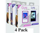 4 Pack Eclipse Touch Pro 4GB MP3 USB 2.0 Digital Music/Video Player w/FM Radio