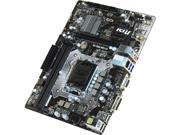 MSI H110M Pro-D mATX Motherboard Intel LGA 1151 Socket w/DVI Video, SATA III