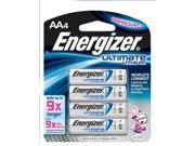 Eveready Energizer Ultimate AA Lithium Batteries 4/pk
