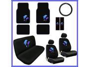 Blue Dolphins Seat Covers & Floor Mats Set – 15pc