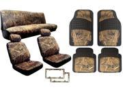 15 Piece Complete Muddy Water Forest Camo Interior Set Designed to fit Kia Sorento (Includes 2 Front Seat Covers, Rear Bench Cover, Premium 4PC Heavy Duty Camo