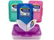C-Line Poly 3-Compartment Storage Box with Snap Lid, 1 Storage Box, Color May Vary (48500)