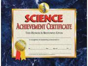 Hayes Certificates - Science Achievement - 8 1/2 x 11 inch - Pack of 30