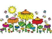 Flower Garden Bulletin Board Set