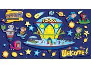 Scholastic Space School Welcome Bulletin Board (TF8017)