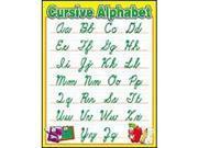 Scholastic Teacher's Friend Plastic Coated Cursive Alphabet Classroom Chart - 17 X 22 Inch