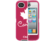 Otterbox Defender Anthem Cover Case with Belt Clip for Apple iPhone 4 4S Canada Flag In Retail Box