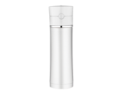 Thermos Sipp Vacuum Insulated Hydration Bottle - 18oz. - Stainless Steel/White