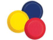 New 100 Wilton PRIMARY COLORS Mini BAKING CUPS Cupcake 9SIV01U7126725