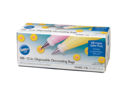 100 12 Wilton DISPOSABLE Cake Icing DECORATING BAGS Tip
