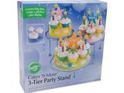 Wilton CAKES 'N MORE 3 TIERED PARTY STAND Tier Desserts Brand: Wilton